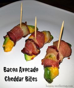 Bacon Avocado Cheddar Bites {With a Kick} Recipe