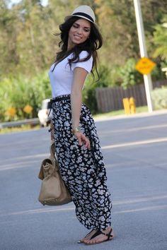 "Black Maxi Skirt Forever 21 Skirts, Tan Agaci Hats, Tan Mimi Boutique Bags | ""Feeling bohemian"" by nanysklozet"