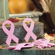 Pink Foam Breast Cancer Ribbons
