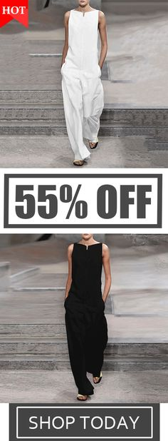 1befef34100 Fashion Plain Long Sleeve Jumpsuits