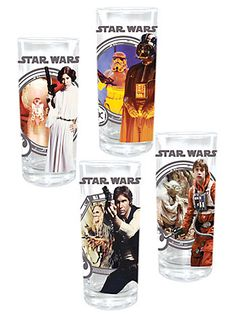 "Star Wars Zombie Glasses Set at PLASTICLAND (aka tumblers, says ""zombie"" is a type of drink) $23"