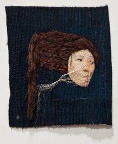 Yoon Ji Seon's Intricate Self Portraits Use Hanging Threads As Hair