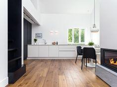 Moderne hjem med Skovin Barn Eikeparkett