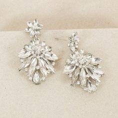 Jewelled Floral Burst Mid Drop Earring