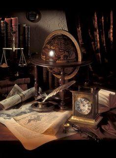 Jimmys fina skrivbord/vårt gamla bakbord! Fantastisk inspiration att inreda med!