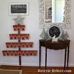 Restyle Relove: DIY Wooden Tree Christmas Advent Calendar