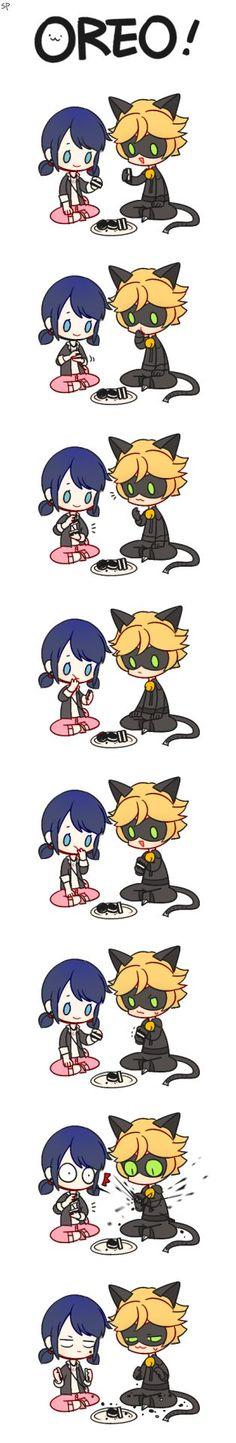 Miraculous Ladybug and Cat Noir ♥ Found at www. - Miraculous Ladybug and Cat Noir ♥ Found at www. Meraculous Ladybug, Ladybug Comics, Lady Bug, Marinette E Adrien, Chibi, Ladybug Und Cat Noir, Catty Noir, Miraculous Ladybug Fan Art, Miraculous Ladybug Fanfiction