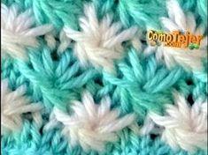 How to knit, Spanish Knitting Help, Knitting Videos, Crochet Videos, Lace Knitting, Knitting Stitches, Baby Stitch, Bobble Stitch, Crochet For Kids, Crochet Baby