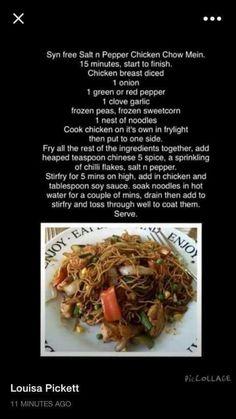 Salt n pepper chicken chow mein