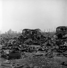 "A look at the ruins of Hiroshima after the atomic bomb ""Little Boy"" was used by Allied forces against Japan."