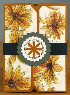 File Folder Daisy Card Oopsie Daisy Club Scrap Blog Hop - by Tricia Morris #WeRMemoryKeepers #envelopepunchboard