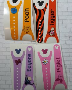 Pooh and Friends collection!#magicbanddecals #magicband2 #poohandfriends #ohbother #glittervinyl #piglet #tigger #pooh #eeyore