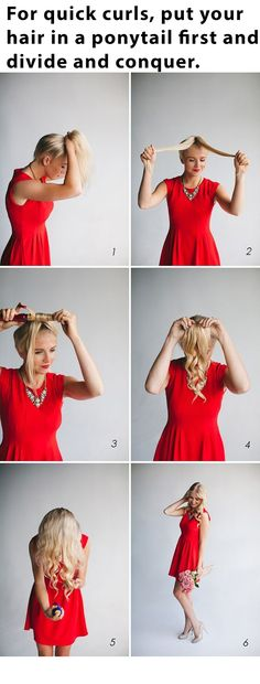 A full tutorial on how to get quick hair curls. Great for those mornings where you want to look great but have no time.