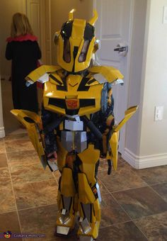 Glen: My daughter is wearing this costume, she is 4 years old. The costume is made from Tin Flashing, riveted together. (WARNING) The edges are sharp so I used a hot...