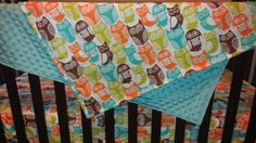 Swedish Owls and Minky Blanket by DesignsbyChristyS on Etsy, $40.00