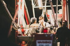 A Ferris Wheel featured at a Heritage Museum of Orange County wedding in September!  Photo taken by Megan & Brent of Studio Castillero.
