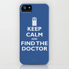 Keep Calm And Find The Doctor iPhone Case by Crystal Shephard - $35.00
