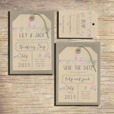 25 Country Wedding Save The Date Luggage Tags, Wedding Stationery, Outdoor Wedding, Modern Wedding, Bunting