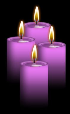 4 lavender Candles: Mother consciousness, manifestation and selflessness, Spirituality, compassion, understanding, inspiration, make contact with Higher-Self, attract spiritual assistance, very calming.