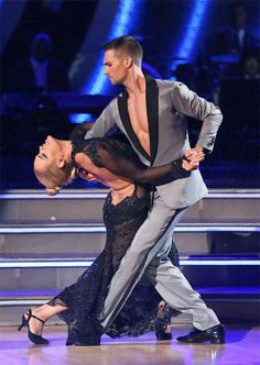 """Peta Murgatroyd & James Maslow's hot tango to """"Adore You"""" by Miley Cyrus scored 9+10+10 = 29 of 30 possible points(Judges' Pick) - in the season 18 finals making them the season;s 4th runners-up - Dancing With the Stars - Week 10 finale - Spring 2014"""