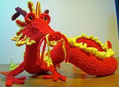 Oriental Dragon Crochet Pattern by NhewytsPlace on Etsy, $4.50
