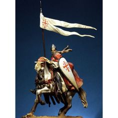 Knight of the Holy Sepulchre Order - Art Girona White Metal Figures