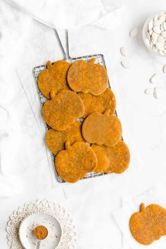 Learn how to make the best ever healthy pumpkin sugar cookies from scratch! They taste just like pumpkin pie! Only 60 calories with no eggs, refined flour or sugar! (And no mixer required either!) Click here to PIN the recipe and save it for later!  Every year for Halloween, my neighborhood organizes a block …