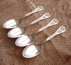 SOLD Vintage 1908 Carnation Silverplate Spoon W. R. with by MDHcrafts