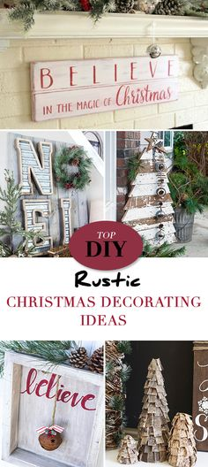 Top DIY Rustic Christmas Decorating Ideas • Tutorials to help you make your home a rustic Christmas wonderland this season!