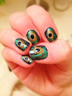 Peacock nails!:)