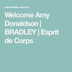 Welcome Amy Donaldson | BRADLEY | Esprit de Corps