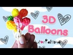 NEW 3D Balloon Charm / Mini Figurine Rainbow Loom Tutorial   How To