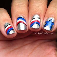 4th of July #nails #ruthsnailart #nailart #usa