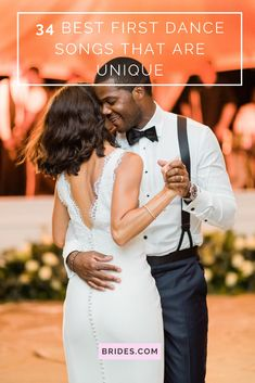 Discover the best first dance songs that haven't been done to death? We've got 34 unique first dance wedding songs that you probably haven't heard at a wedding. Top 10 Wedding Songs, First Dance Wedding Songs, First Dance Lyrics, Wedding Reception Music, Wedding Playlist, Funny Wedding Photos, Wedding Dj, Wedding Country, Country Weddings