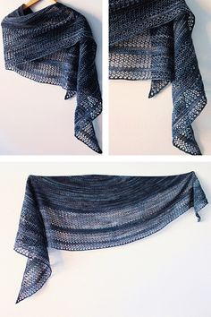 Ravelry: Interlude shawl with Knitlob's Lair Tuulen Tytär in colorway Myrsky - knitting pattern by Janina Kallio.