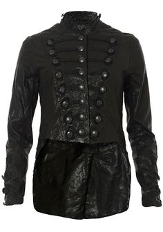 Words cannot describe how much I want this leather jacket.  AllSaints | Karst Military Leather Jacket