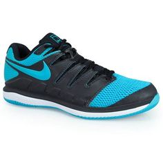 purchase cheap 03f91 87b90 Nike Air Zoom Vapor X Mens Tennis Shoe - Black Gamma Blue White