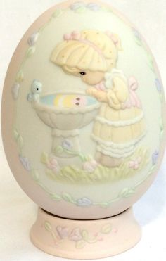 Vintage Precious Moments Collectable Easter EGG by DejaVuVintiques, $38.00