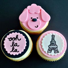 paris themed cupcake toppers