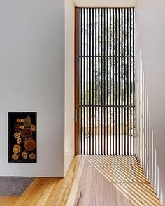 Thin lines. Brooks used the clarity of glass and blackbutt-clad timber. Timber Screens, Timber Slats, Timber Windows, Timber Door, Timber Cladding, Timber Flooring, House Deck, House Stairs, Architecture Details