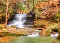 Spring Waterfall Photo Print, Scenic Photography, Waterfall Photography, Landscape Photography, Home Decor Photography, Nature Photography