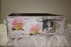 Alicja w Krainie Decoupage...: Pojemnik drewniany w stylu Retro