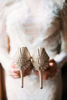Vintage Inspired Bridal Shoes   photography by http://www.misshilary.com/