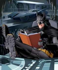 Batman reads!  | Goodreads | Celebrities & Other Famous People Reading