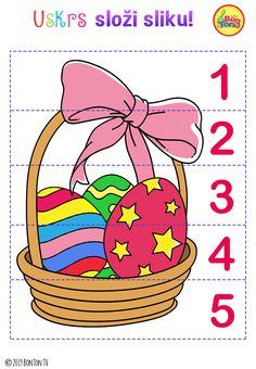 Easter themed Preschool Printables - Free worksheets, number puzzles - tracing letters, numbers and other activities - fun learning by BonTon TV Easter Puzzles, Easter Activities For Kids, Preschool Learning Activities, Preschool Printables, Spring Activities, Preschool Crafts, Fun Learning, Easter Crafts, Kids Fun