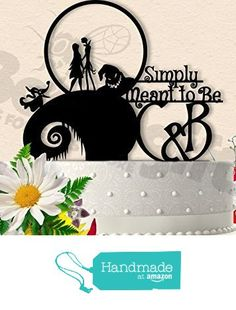 Jack and Sally Simply Meant To Be with Initials Wedding Cake Topper from Bee3DGifts https://www.amazon.com/dp/B01IU8JMH0/ref=hnd_sw_r_pi_awdo_6FcFybTGTCNX2 #handmadeatamazon