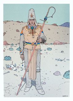 This piece is by Moebius. I enjoy his use of simple yet graphic lines.