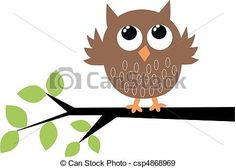 Vector - a cute brown owl - stock illustration, royalty free illustrations $3