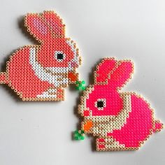 Easter bunnies hama perler beads by ladykragh