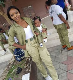 FOW 24 NEWS: Youth Corper & Her Daughter Pose In Matching NYSC ...